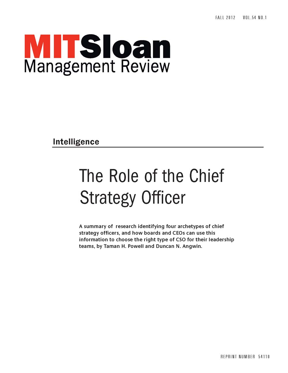 the role of the chief strategy officer mit smr store - Chief Strategy Officer Job Description